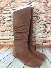 Ugg Abilene Womens Brown Lined Mid-Calf Suede Slouch Boots S/N 1947 Size 8
