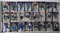 1994-95 Upper Deck UD San Jose Sharks Team Set of 24 Hockey Cards