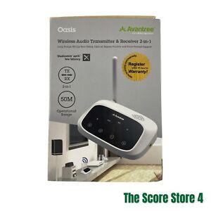 Avantree Oasis Wireless Audio Transmitter & Receiver 2in1 Model: BTTC-500-W-US