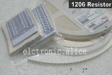 1206 64 values  1280pcs 1R  - 10MR 1/4w 5% SMD CHIP Resistors Assortment  Kit