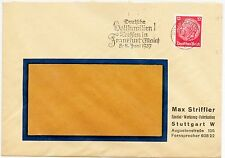 """STUTTGART, Briefumschlag 1937, Max Striffler Spezial-Werkzeug-Fabrikation """"Deuts"""