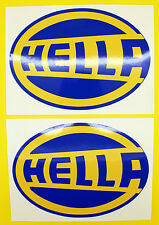CLASSIC Car Rally / RACE HELLA Adesivo Set X2 GLOSS stratificato