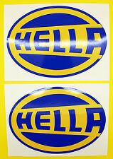 Classic Car Rally/Race HELLA sticker set x2 GLOSS LAMINATED