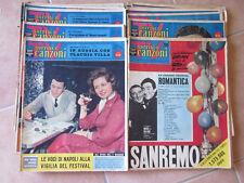 AR836 BLOCCO N. 18 PEZZI TV SORRISI E CANZONI ANNO 1960