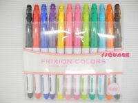 Pilot SFC-120M-12C FriXion Colors Erasable 0.7mm Marker Pen 12 Colors Set