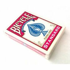 BICYCLE PINK BACK DECK OF PLAYING CARDS STANDARD SIZE & FACE USPCC MAGIC TRICKS