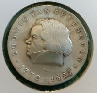 DDR 10 Mark Commemorative coin 1970 SILVER Coin. Ludwig Van Beethoven 1770-1827.