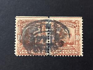 GandG US Stamps #307 Webster 10c Pair Used