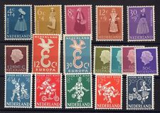 PAYS-BAS: ANNEE COMPLETE 1958 DE 17 TIMBRES NEUF** YTN°685/700 Cote: 51,00 €