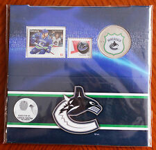 2014 Canada 25 Cent Vancouver Canucks NHL Coin Stamp Gift Set RCM & Canada Post