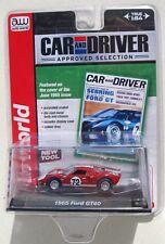 AUTO WORLD 1965 FORD GT40 RED #6 PREMIUM ACRYLIC CASE 1:64 CAR & DRIVER B