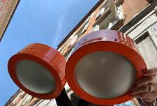 LUCI Milano 2 PLAFONIERE LAMPADE lamp ORANGE arancione space age VINTAGE