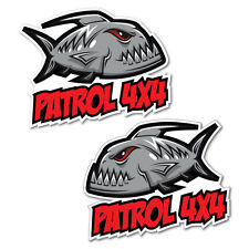 4x4 Piranha Sticker for Patrol Decal Boat Fishing Tackle 4x4 #5640ST