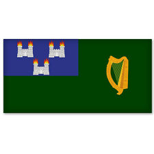 "Dublin City Flag car bumper sticker window decal 5"" x 5"""