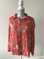 BNWT George Pink Blouse With Flower Print - Size 12