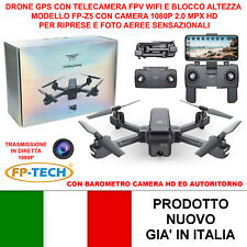 Drone Cuadricóptero Radicomandato GPS sin Cabeza Wi-Fi FPV Camara HD Vídeo Sjr