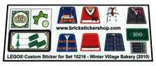 Replica Pre-Cut Transparent Sticker for Lego® set 10216 - Winter Village Bakery