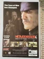 Metal Gear Solid 4 RARE Print Advertisement