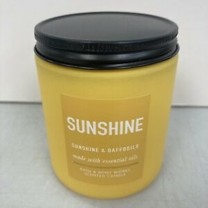 Bath & Body Works SUNSHINE Single Wick 7oz Candle with Essential Oils