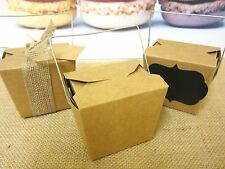 20x SMALL BROWN PAPER KRAFT CRAFT NOODLE BOXES LOLLY CANDY BAGS BOX 8oz