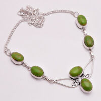 925 Sterling Silver Overlay Gemstone Necklace Handcrafted Women Jewelry PN10