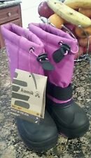 Girls Kamik WINTER SNOW Viola Boots Girls Size 2 Comfort Rated -40°F/-40°C New