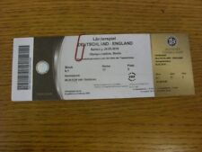 26/03/2016 Ticket: Germany v England [In Berlin] (folded, complete, light markin