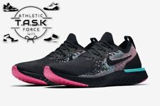 💯 Nike Epic React Flyknit South Beach Men's Sz 9.5 Black/Hyper-Jade BV1572-001