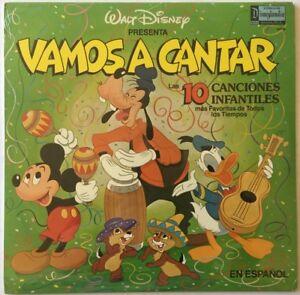 Walt Disney Record VAMOS A CANTAR Disneyland 1901M / SPANISH / STILL SEALED (SS)