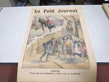 LE PETIT JOURNAL SUPPLEMENT ILLUSTRE N° 1211 1914 L'HIVER / ERUPTION VOLCAN SAK*