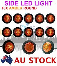 "10 12V 1-1/4"" Round 6 LED Amber Side Light LED Marker Trailer Truck Lamp AU SHIP"