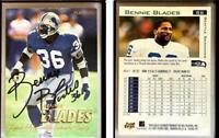 Bennie Blades Signed 1997 Fleer #86 Card Seattle Seahawks Auto Autograph