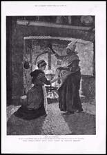 1886 - Antique Print FINE ART World Went Well Then Walter Besant Fire Bag (122)