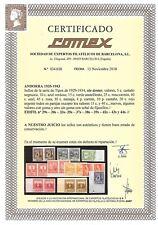 ANDORRA EDIFIL  28/44* SIN DENTAR  CON CERTIFICADO COMEX Y EFM CATALOGO  5.700 E