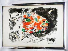 Marc Chagall After The Winter 1972 Original Color Lithograph Derriere Le Miroir