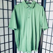 Nike Golf Tiger Woods Collection L Fit Dry Mercerized Grid Polo Shirt Euc