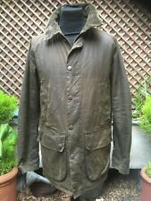 Barbour BROME by LAND ROVER DEFENDER Olive wax jacket size small -med