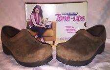 Womens 10 SKECHERS 38825 TONE UPS CLOG MASTER Nurse Professional Brown Shoes NIB
