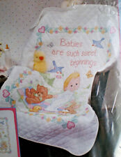 """Dimensions / Ruth Morehead """"Sweet Baby Quilt"""" Stamped Cross Stitch Kit"""