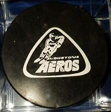 VINTAGE HOUSTON AEROS WHA VINTAGE OFFICIAL GAME PUCK MADE IN CANADA
