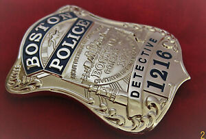 xx/ Collector police badge, * Detective *, Boston Police, BPD , Massachusetts