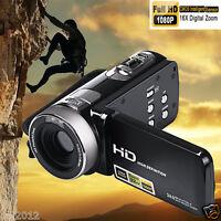 "NEW 24MP 3.0"" LCD Screen Digital Video Camera Camcorder DV Full HD 1080P 16XZoom"