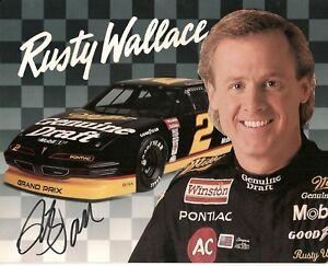 Rusty Wallace MGD GRAND PRIX 1993 NWC NASCAR CHAMP HOFer 1989 signed 8x10 photo