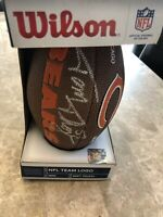 Chicago Bears mini football signed by Tom Thayer former 1985 super Bowl +