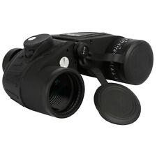 10X50 Black Waterproof Fog Outdoors Binoculars Rangefinder Compass BAK4 Prism