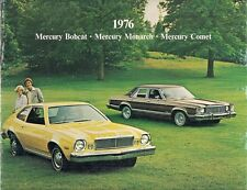Mercury Bobcat Comet Monarch 1976 USA Market Sales Brochure