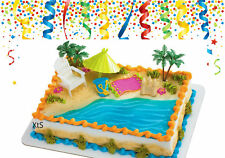 Cake Decoration Supplies Retirement Beach Party Chair Umbrella Decor Toys Gift