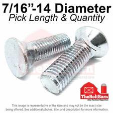 716 14 3 Flat Round Head Grade 5 Plow Bolts Zinc Coarse Pick Length Amp Qty
