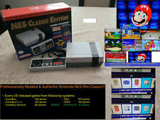 Authentic Nintendo Nes Mini Classic Modded w/ 2600+ Games Snes Gameboy Gba + N64