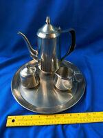 Mid Century Modern Design Oneida Stainless 18/8 Tea Coffee Set Retro 60s Cool!